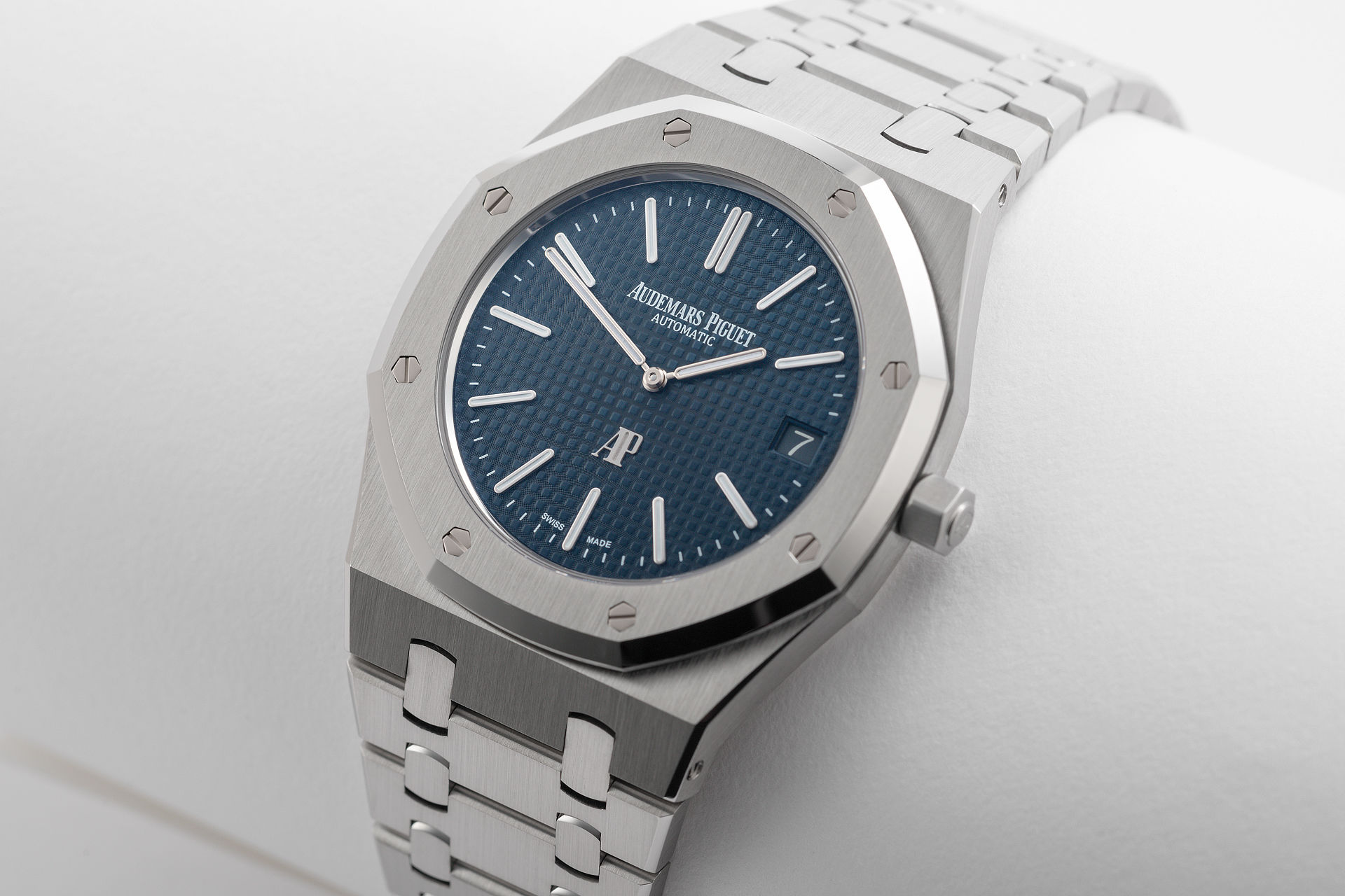 ref 15202ST.OO.1240ST.01 | Blue Dial Jumbo Complete Set | Audemars Piguet Royal Oak
