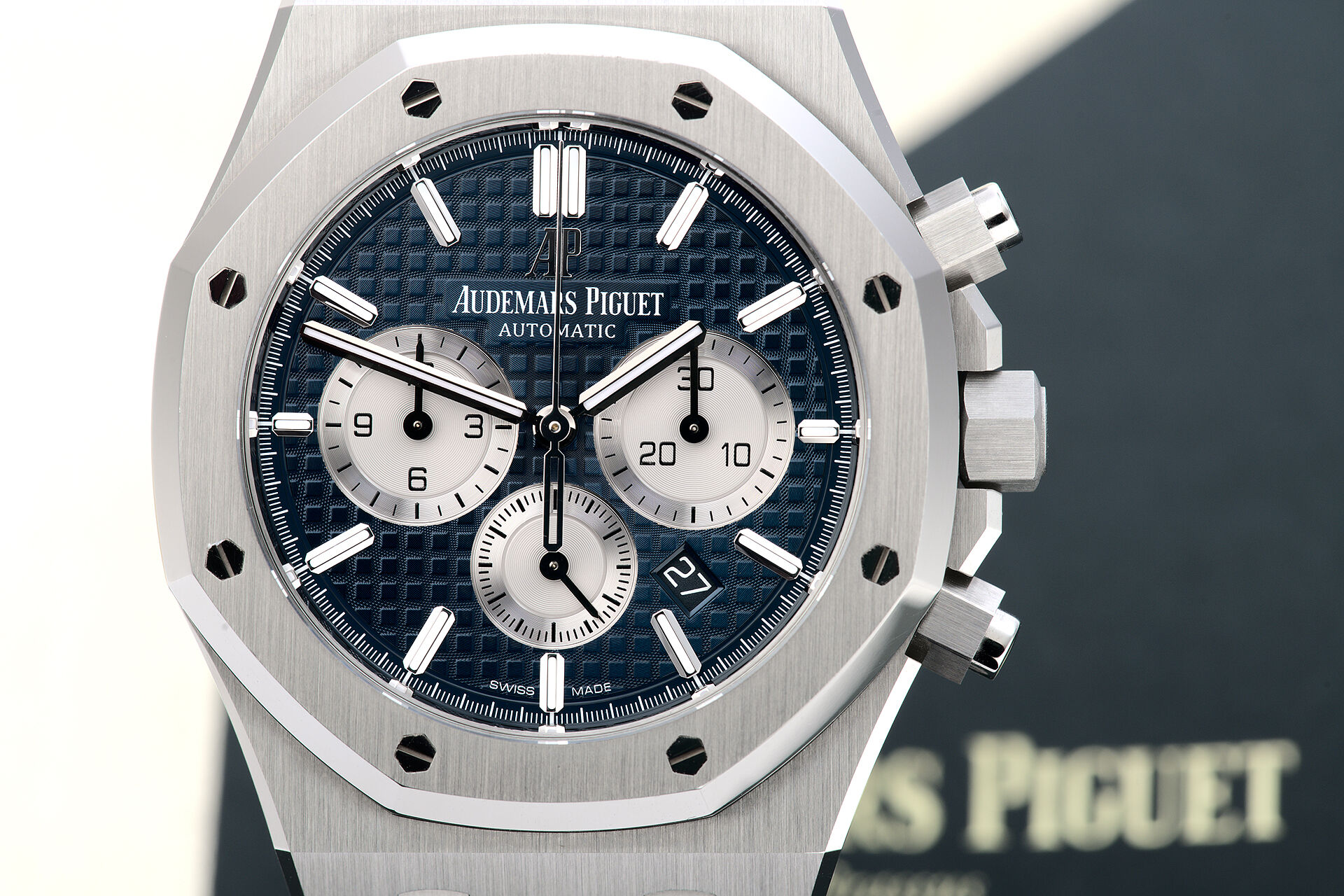 ref 26331ST.OO.1220ST.01 | Brand New 'Blue Dial' | Audemars Piguet Royal Oak Chronograph