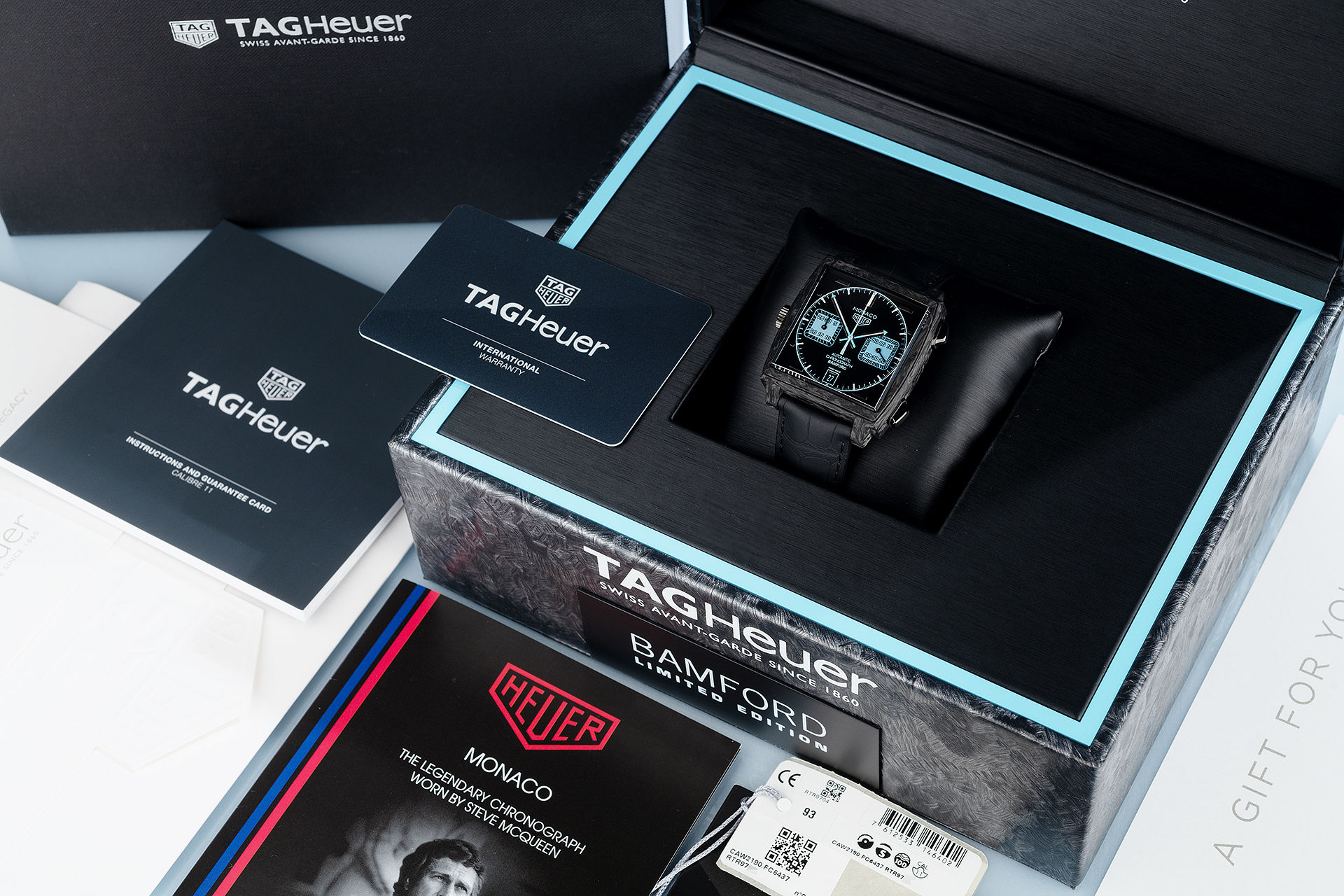 ref CAW2190 | Carbon Fibre 'Limited Edition'  | Bamford Tag Heuer Monaco