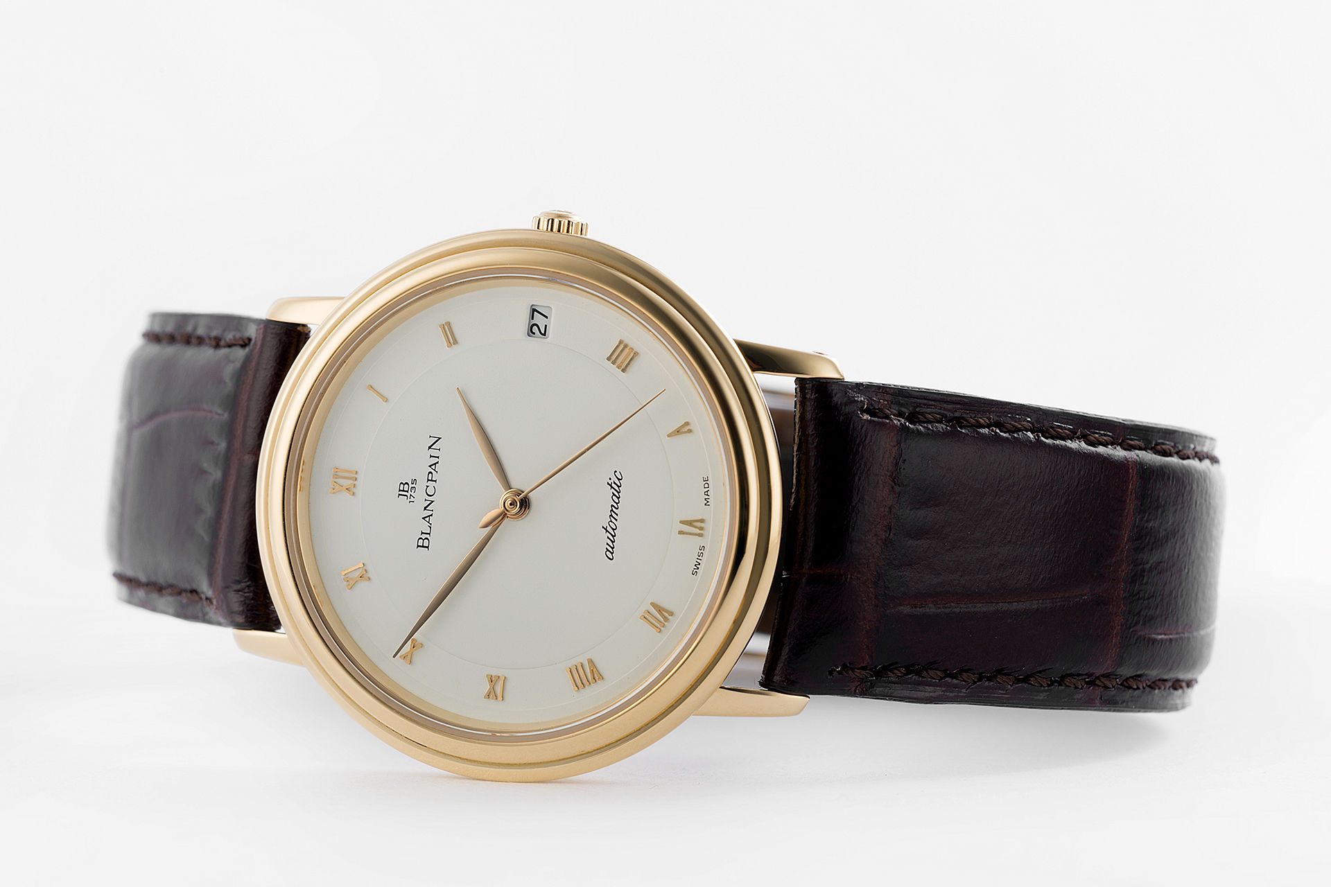 ref 1151-1418-55 | 18ct Yellow Gold 'Ultra Thin' | Blancpain Villeret