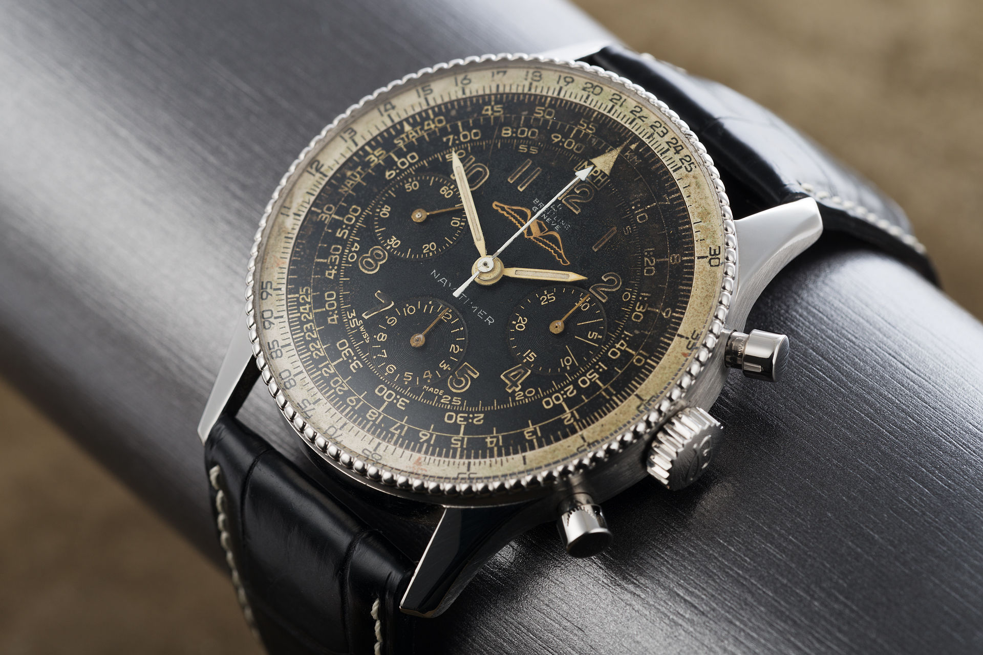 Breitling Navitimer Watches Ref 806 Early All Black Dial The Watch