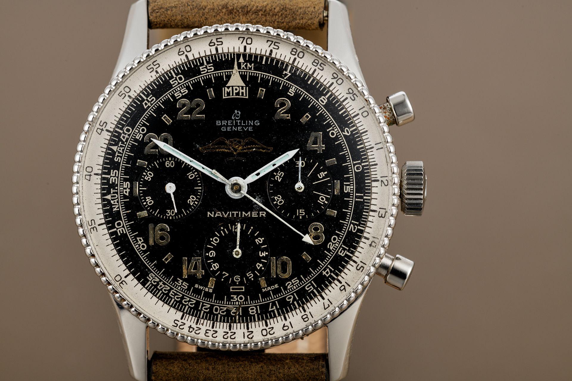 ref 809 | Rare All Black Dial 'Scott Carpenter' | Breitling Navitimer