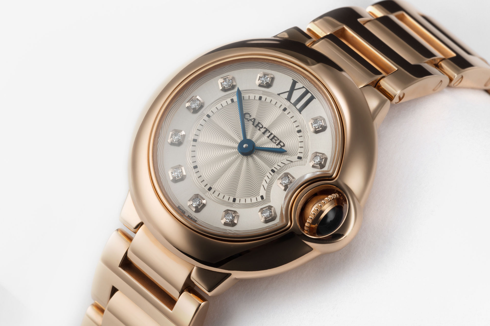 704de9756dea Cartier 3007. Ballon Bleu 28mm Rose Gold Diamond Dial