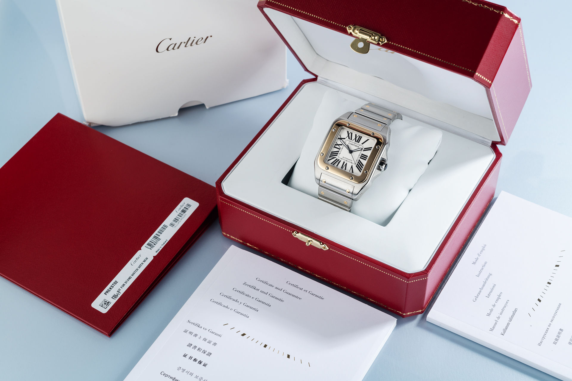 ref W200728G | 'Brand New' Box & Papers | Cartier Santos 100