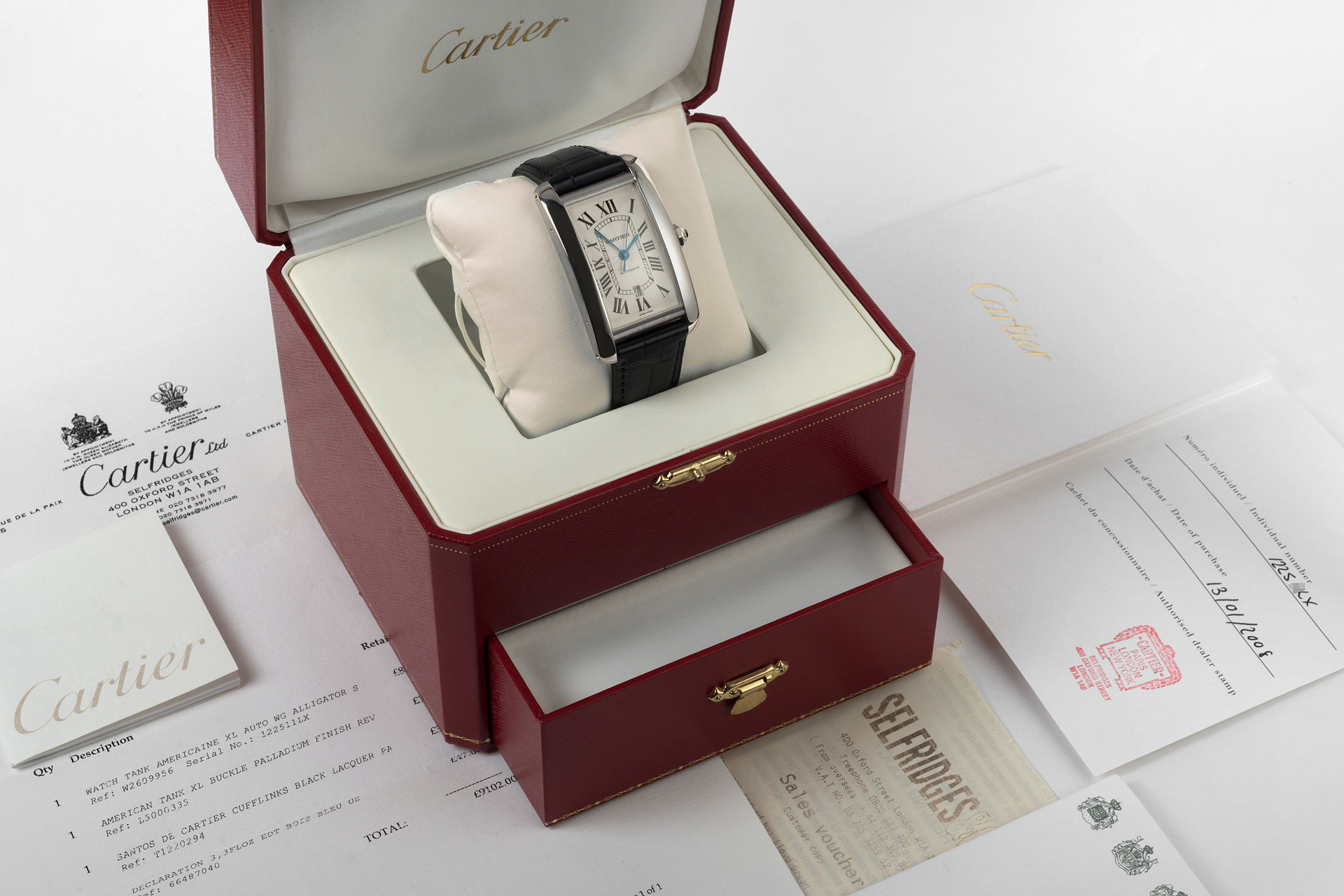 ref W2609956 2928 | White Gold 'Full Set' | Cartier Tank Americaine XL