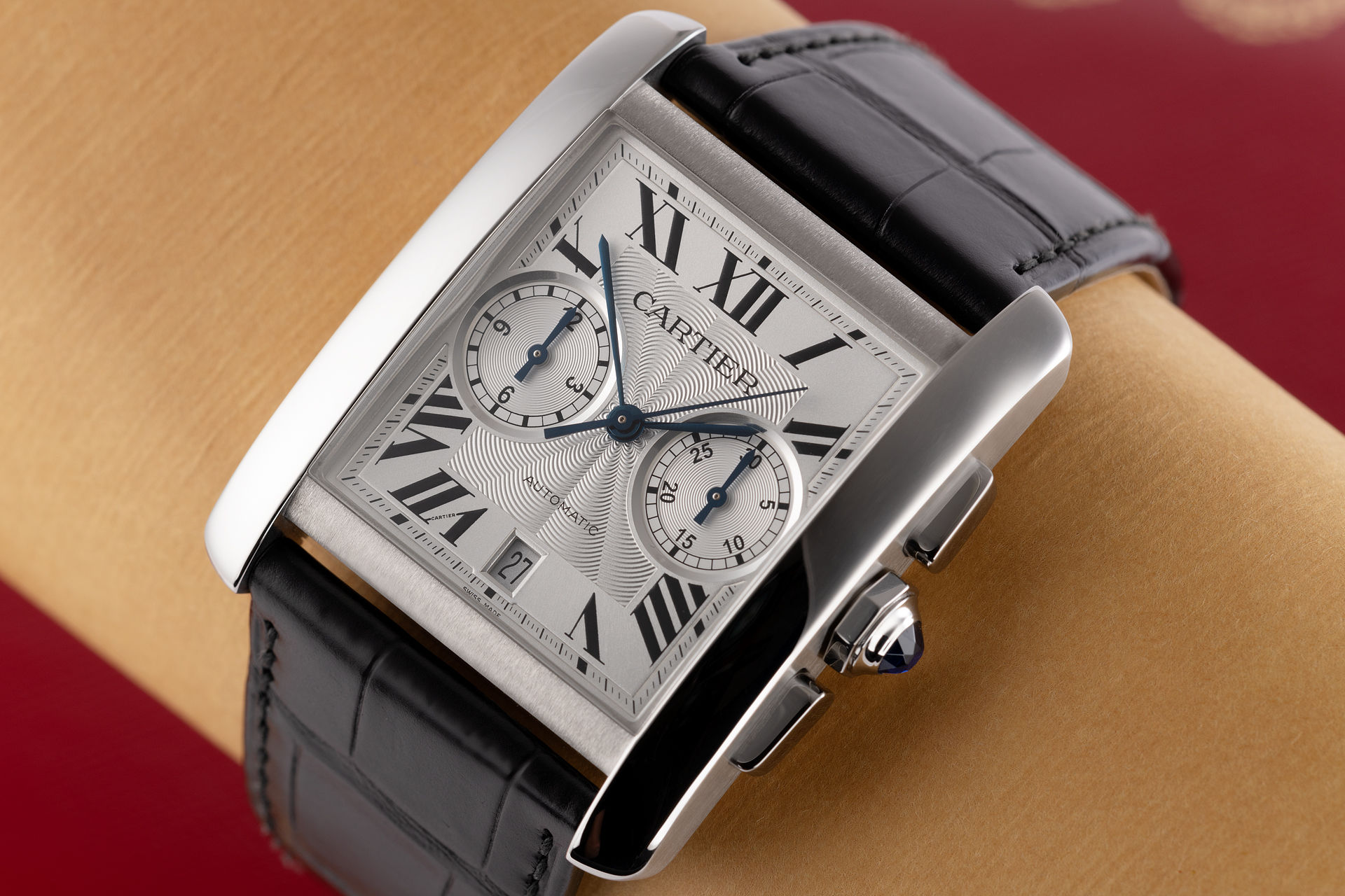 Tag Heuer Uk >> Cartier Tank MC Chronograph Watches | ref W5330007 | Cartier International Warranty | The Watch Club