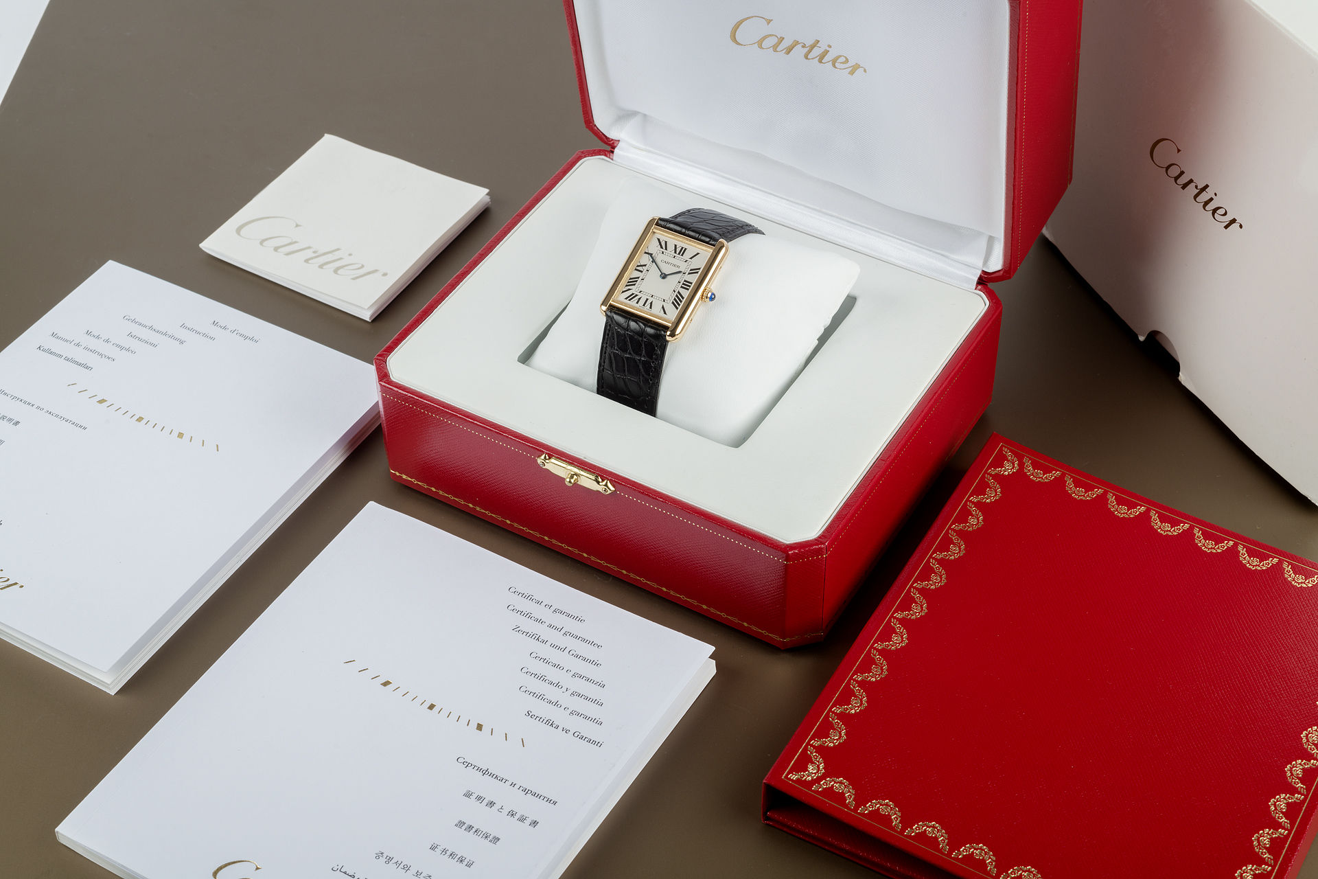 Box & Papers  | ref W1018855 | Cartier Tank Solo