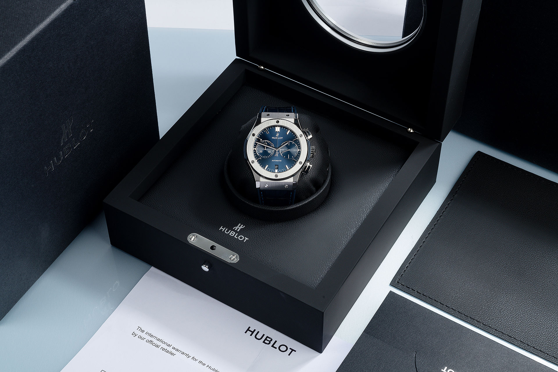 ref 521.NX.7170.LR | Titanium 'Box & Papers' | Hublot Classic Fusion Chrono