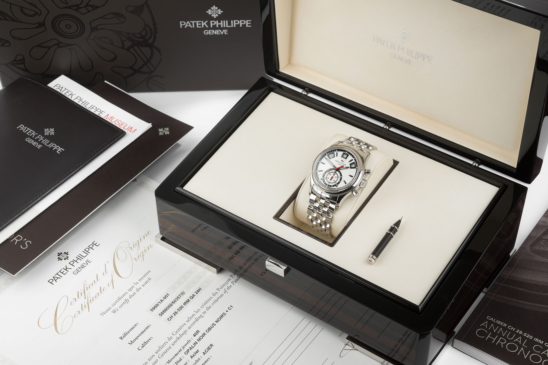 Stainless Steel Complete Set | ref 5960/1A-001 | Patek Philippe Annual Calendar Chronograph