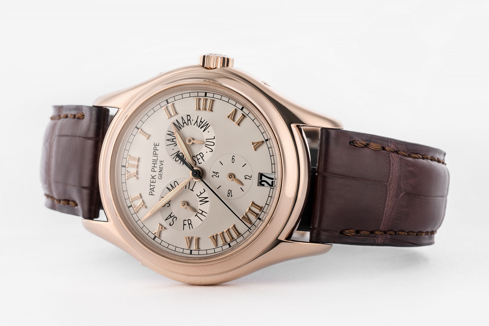 watches complicated patek rose watch calendar annual in philippe calatrava gold