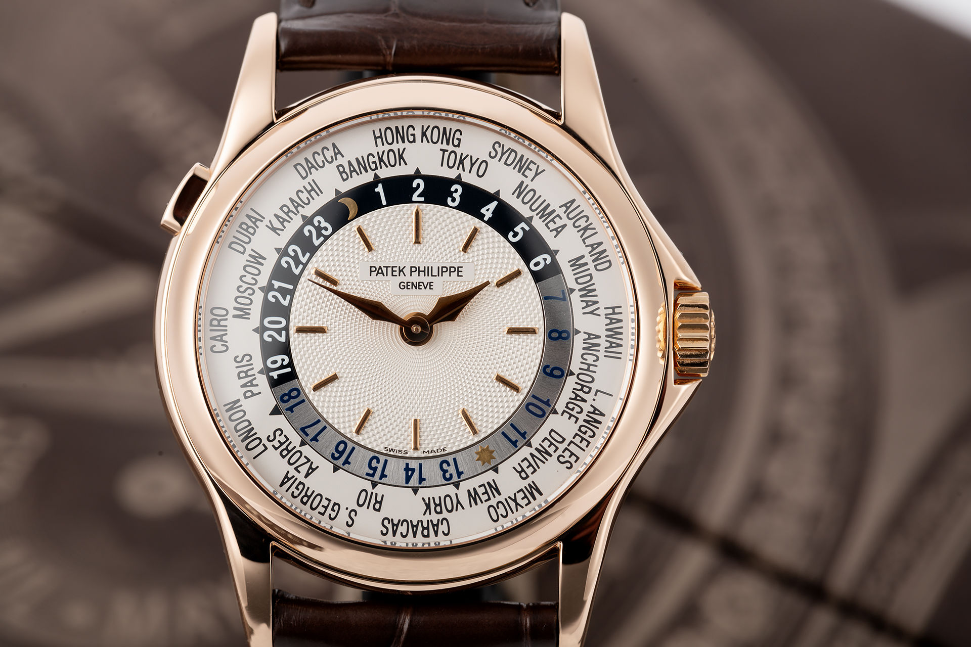 ref 5110R | Rose Gold 'Box & Papers' | Patek Philippe World Time