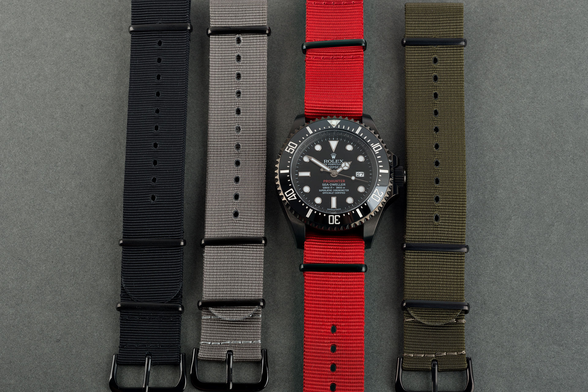 ref 116660 | Single Red Military 'One of 100' | Pro Hunter Sea-Dweller Deepsea