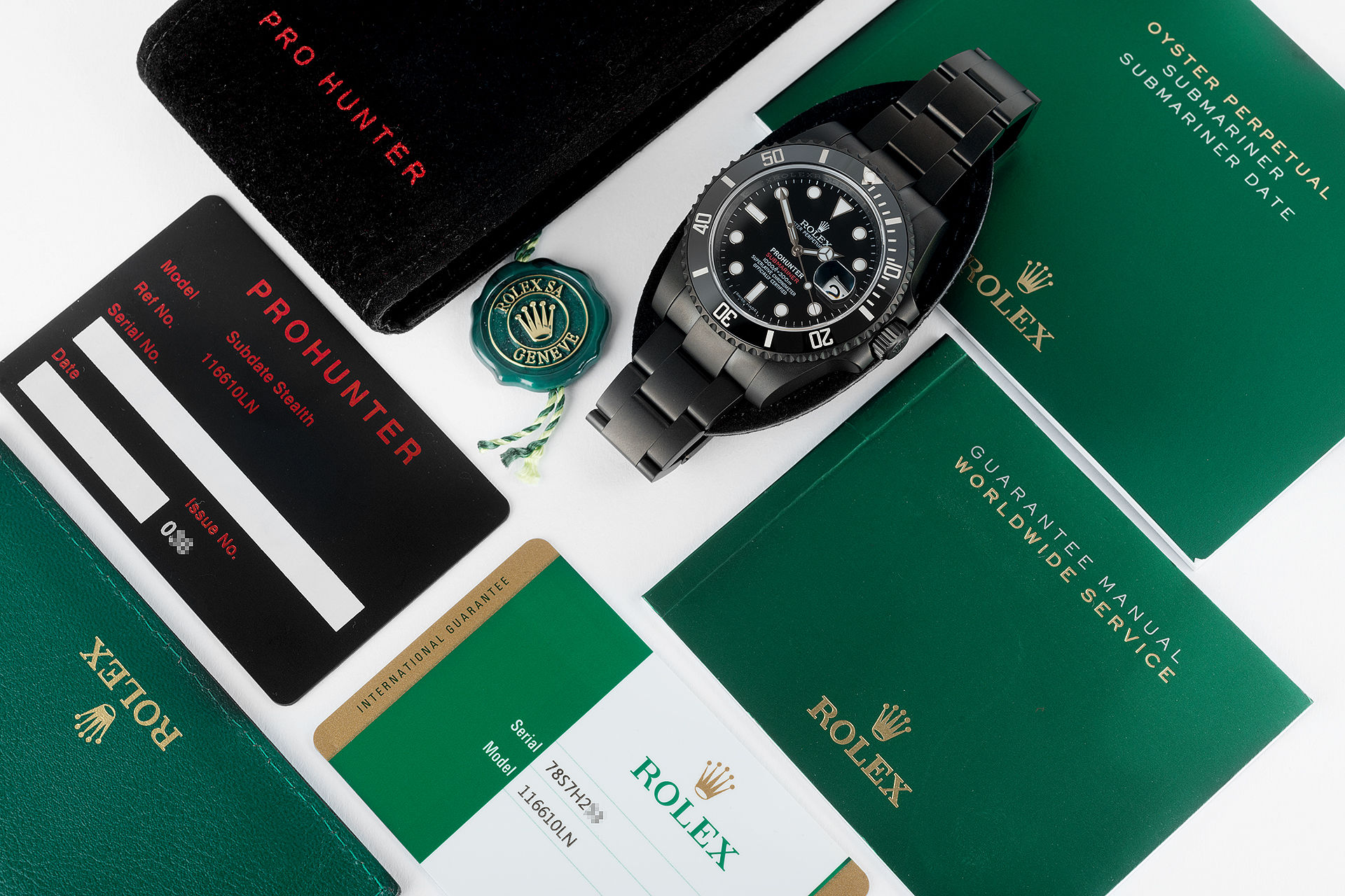 ref 116610LN | Limited Edition 'One of 100' | Pro Hunter Stealth Submariner Date