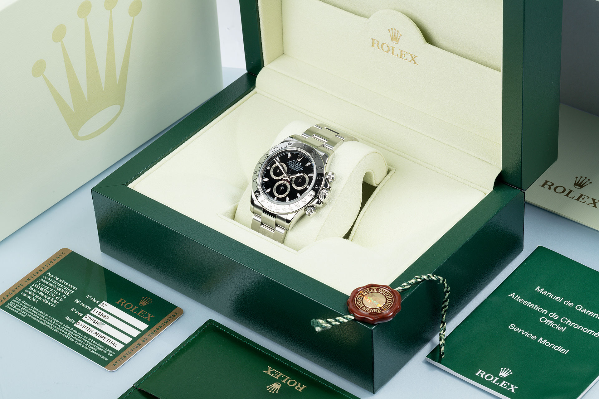 ref 116520 | Complete Set 'Discontinued Model' | Rolex Cosmograph Daytona