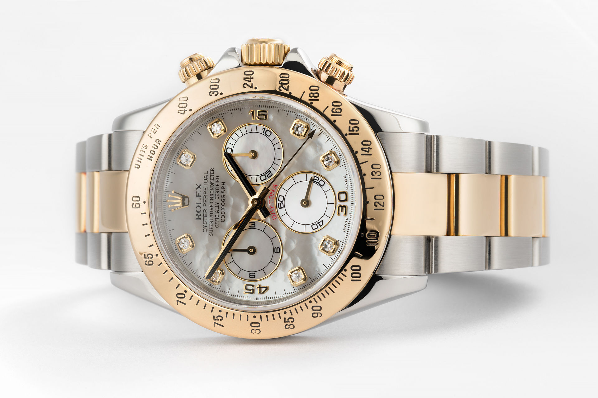 ref 116523 | Diamond Mother of Pearl  | Rolex Cosmograph Daytona