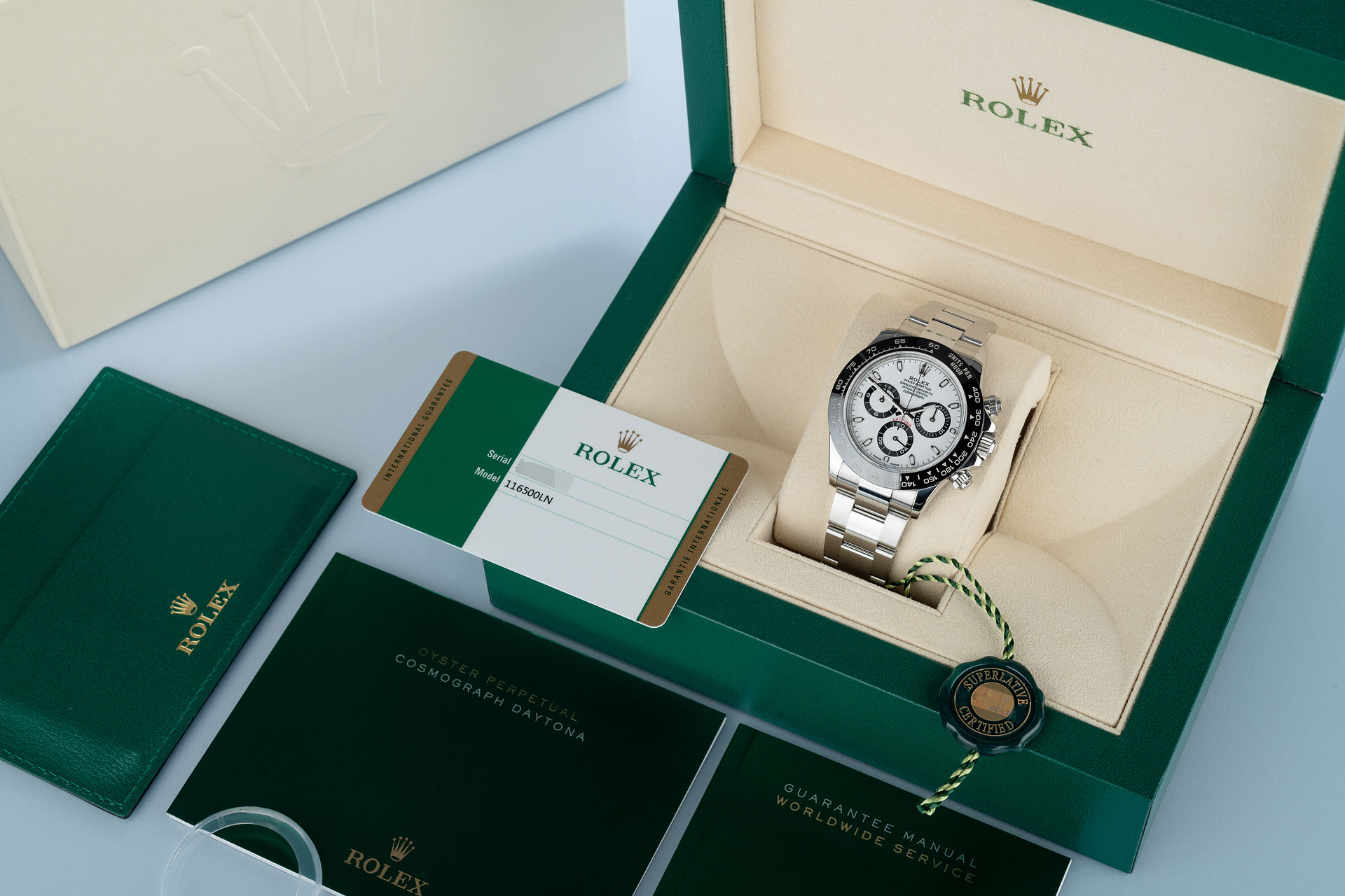 ref 116500LN | Full Set 'Five Year Warranty' | Rolex Cosmograph Daytona