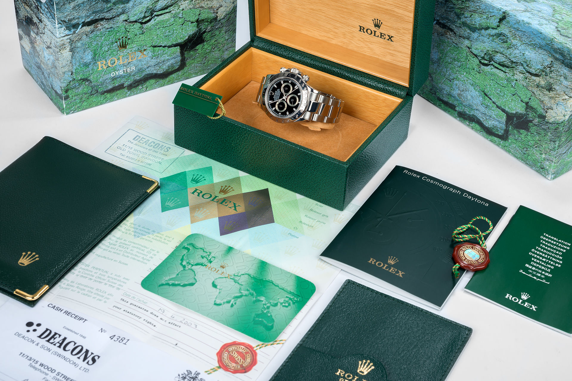 ref 116520 | Box & Certificate 'Early Model' | Rolex Cosmograph Daytona