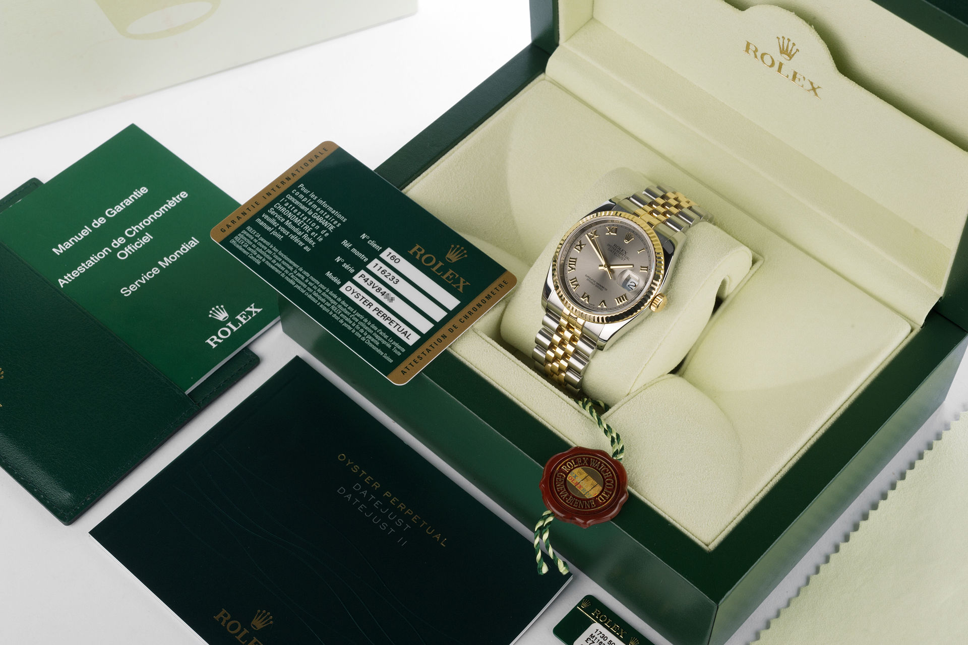 ref 116233 | 18ct Gold & Steel 'Full Set' | Rolex Datejust