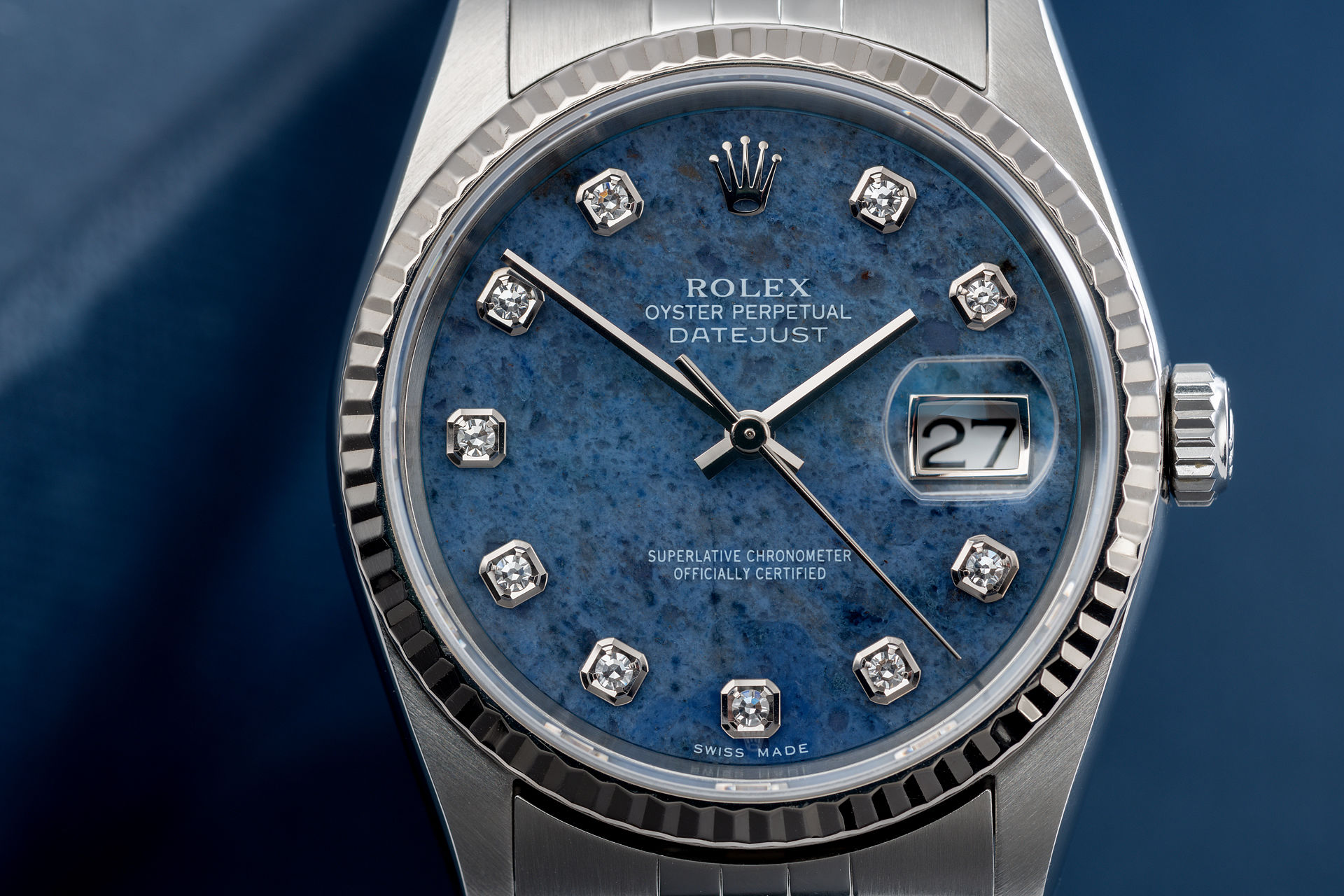 ref 16234 | Box and Certificate - Sodalite Dial | Rolex Datejust