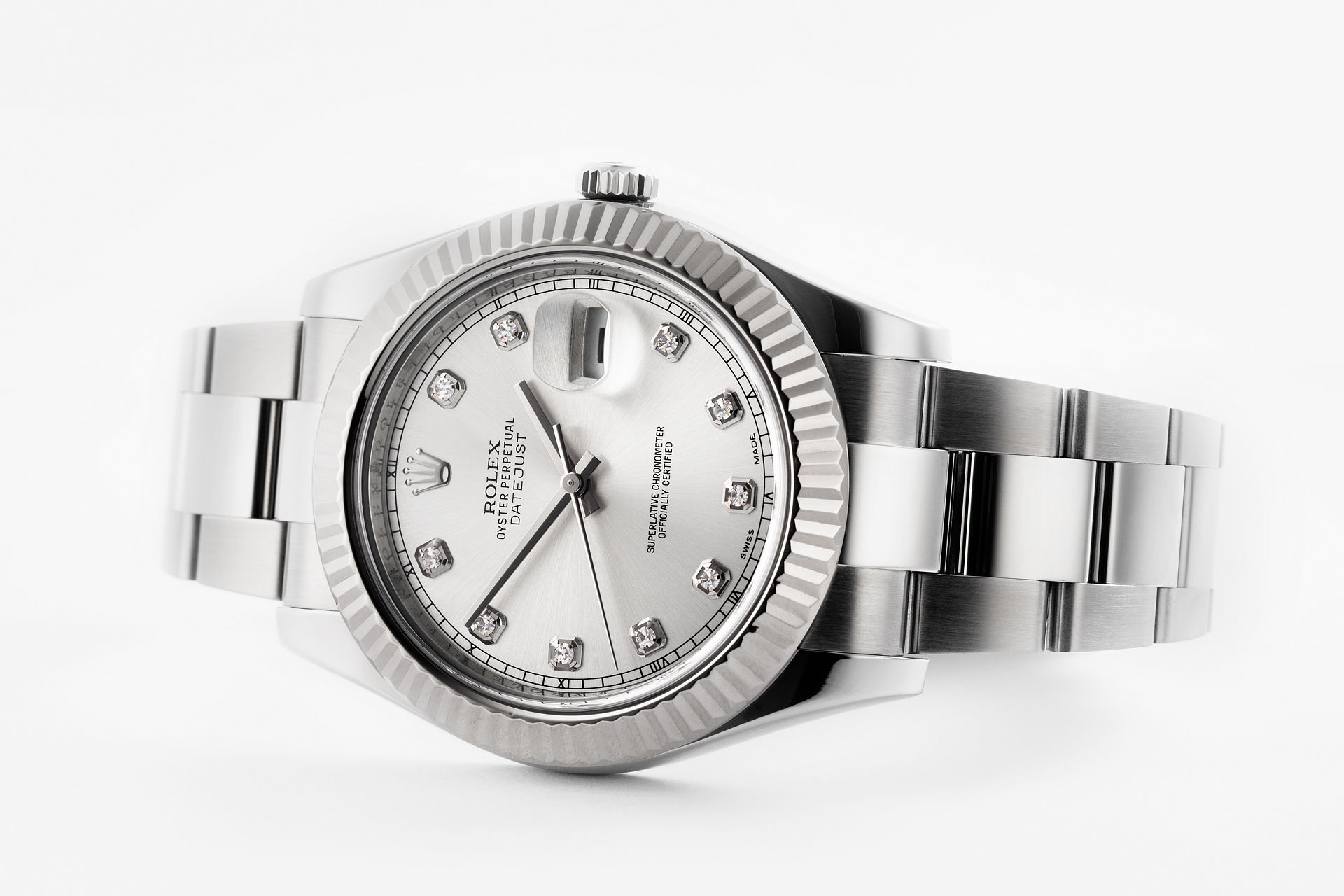 Image result for Rolex Datejust II ref. 116334 with diamond dial