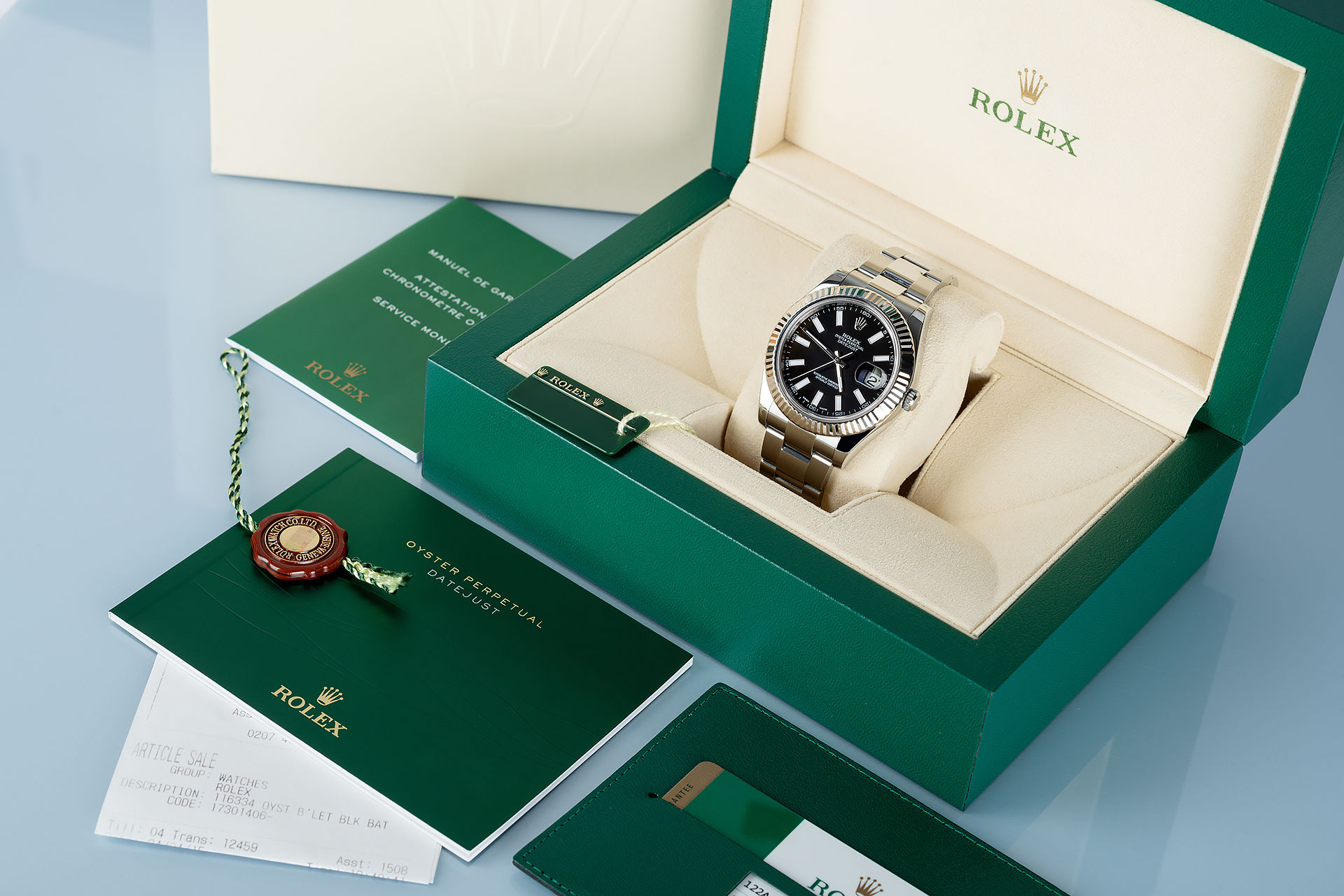 ref 116334 | White Gold Bezel 'Full Set' | Rolex Datejust II