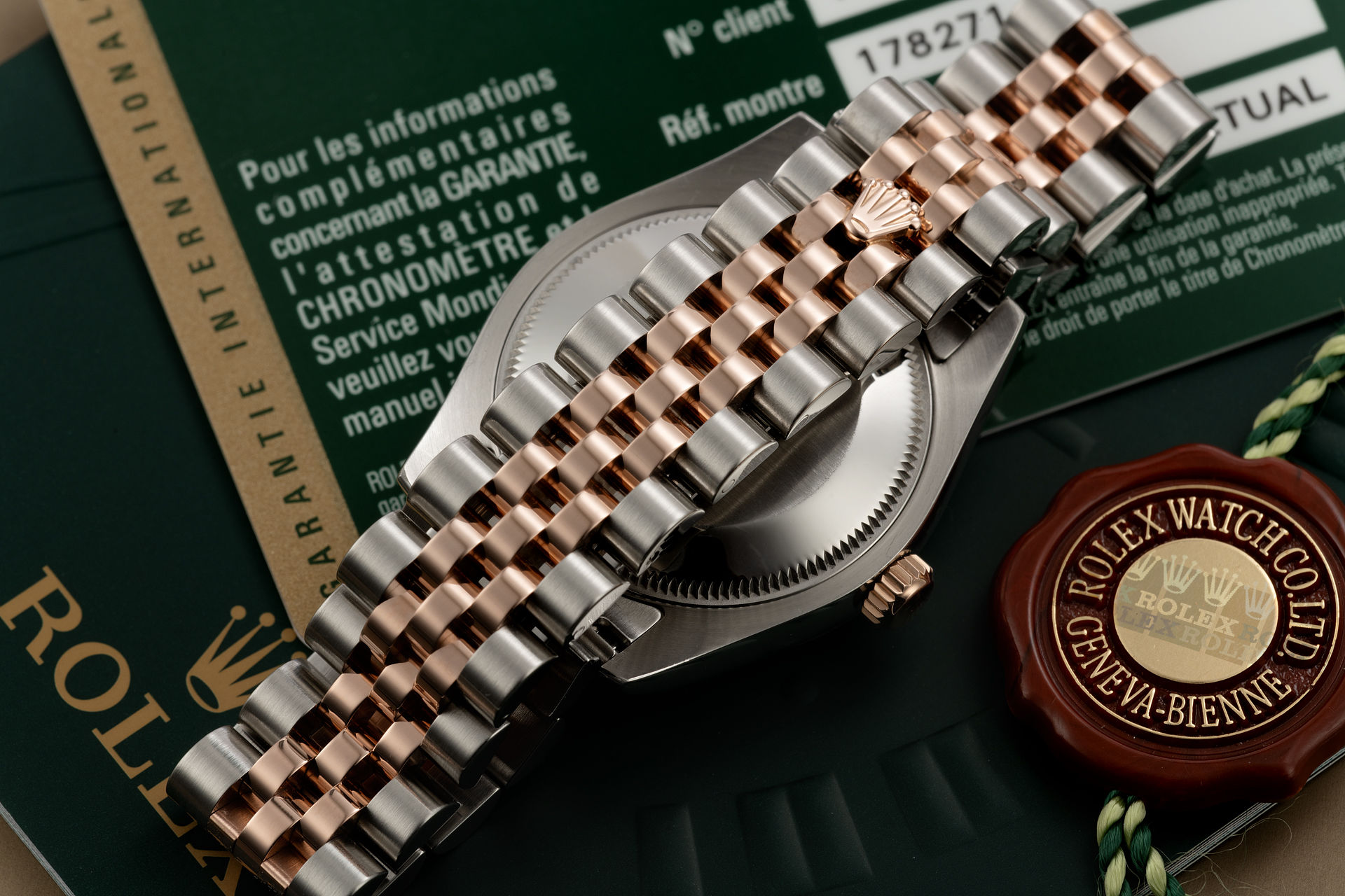 ref 178271 | Rose Gold & Steel 'Diamond Dial' | Rolex Datejust