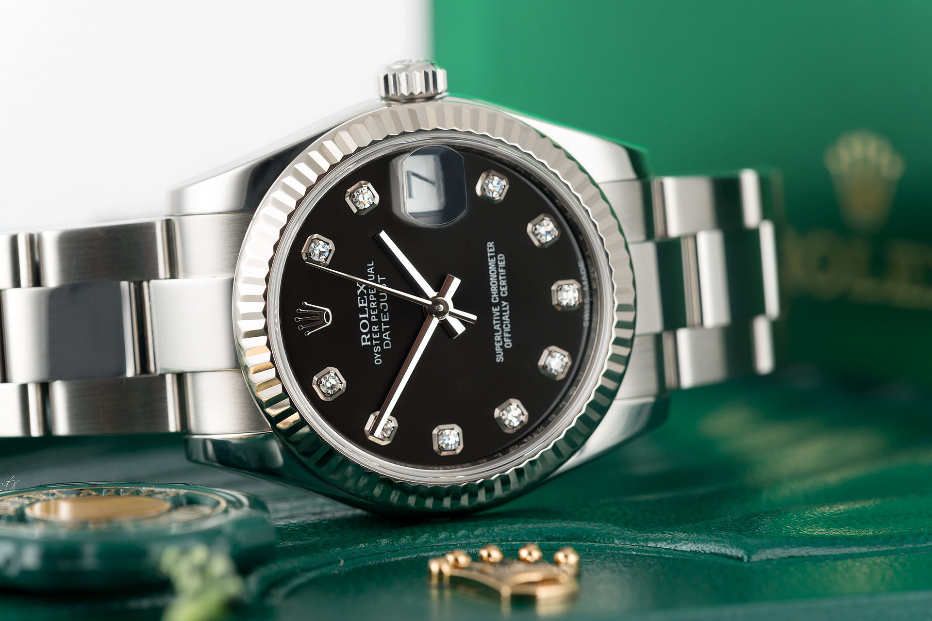 "White Gold Bezel ""Full Set"" 