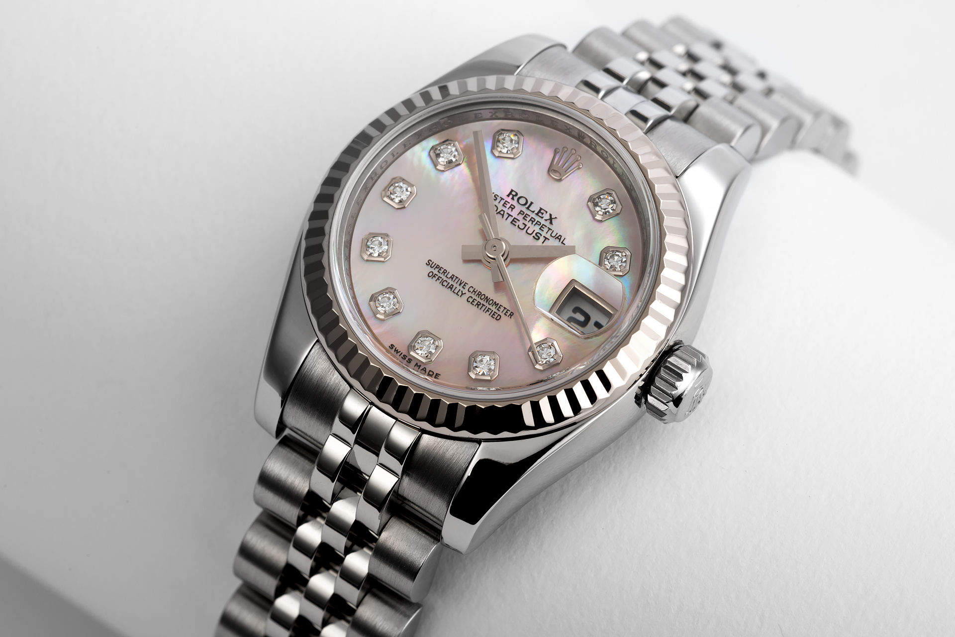ref 179174 | 'White Gold Bezel' Mother Of Pearl | Rolex Datejust