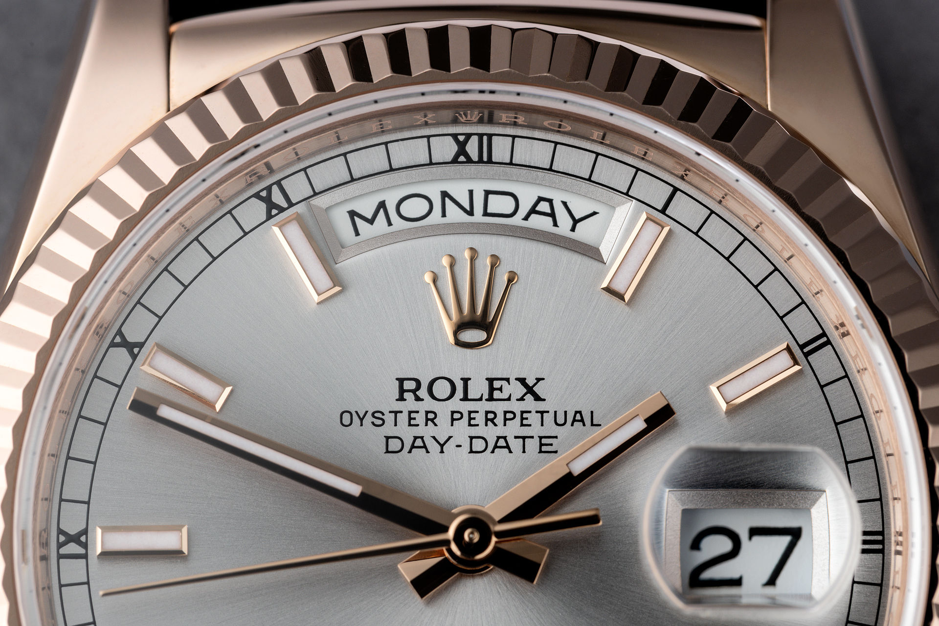 Everose Gold Box & Papers | ref 118135 | Rolex Day-Date