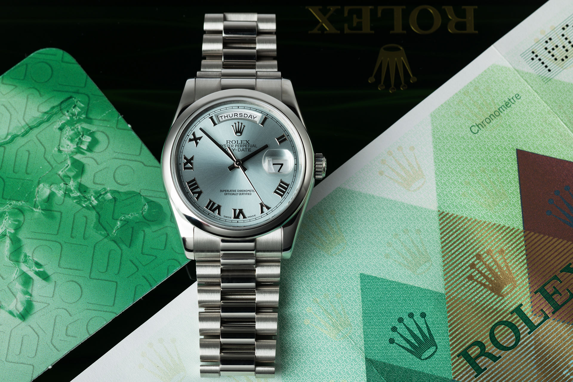 ref 118206 | Full Set 'Ice Blue Dial' | Rolex Day-Date