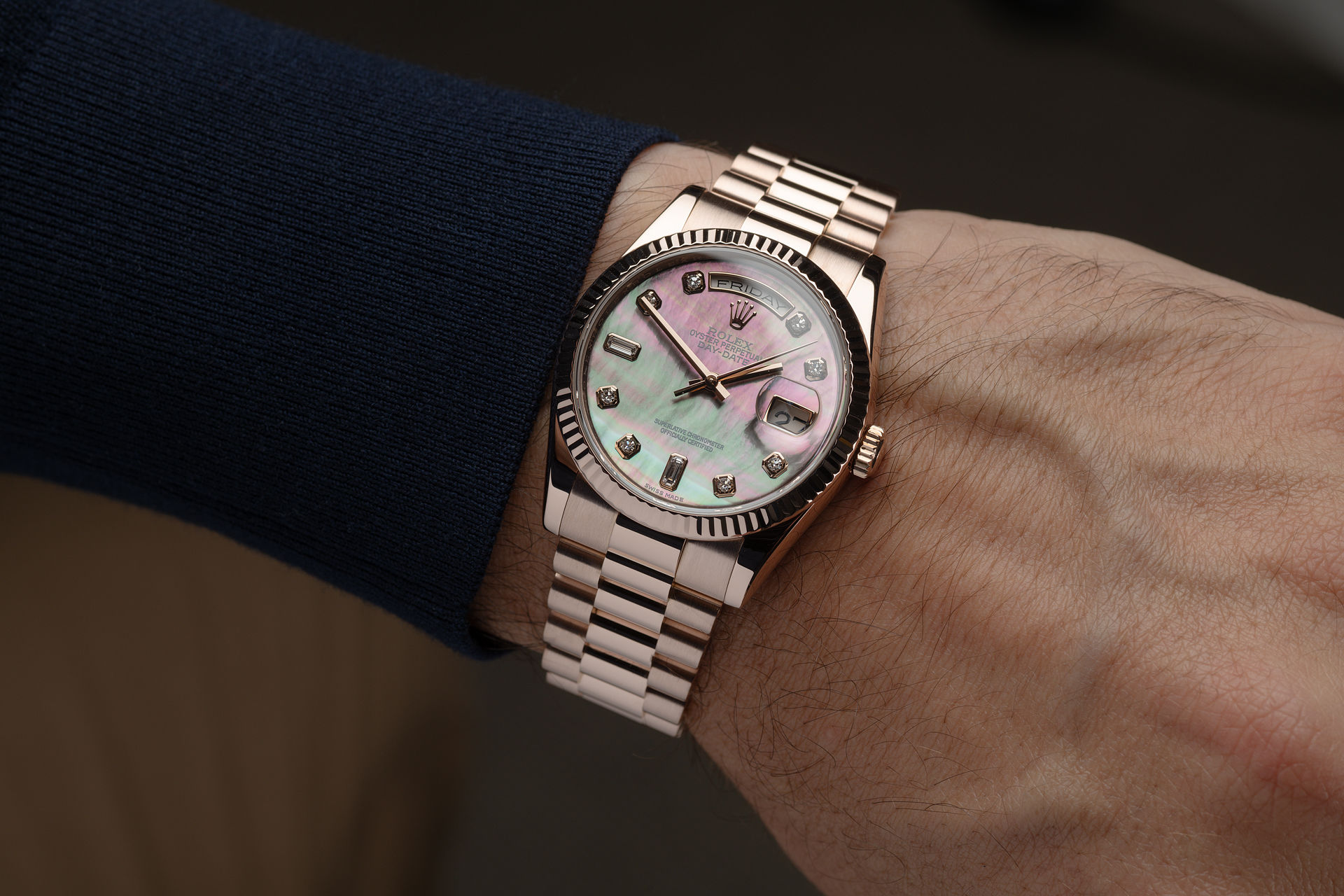 ref 118235 | Mother of Pearl Diamond Dial | Rolex Day-Date