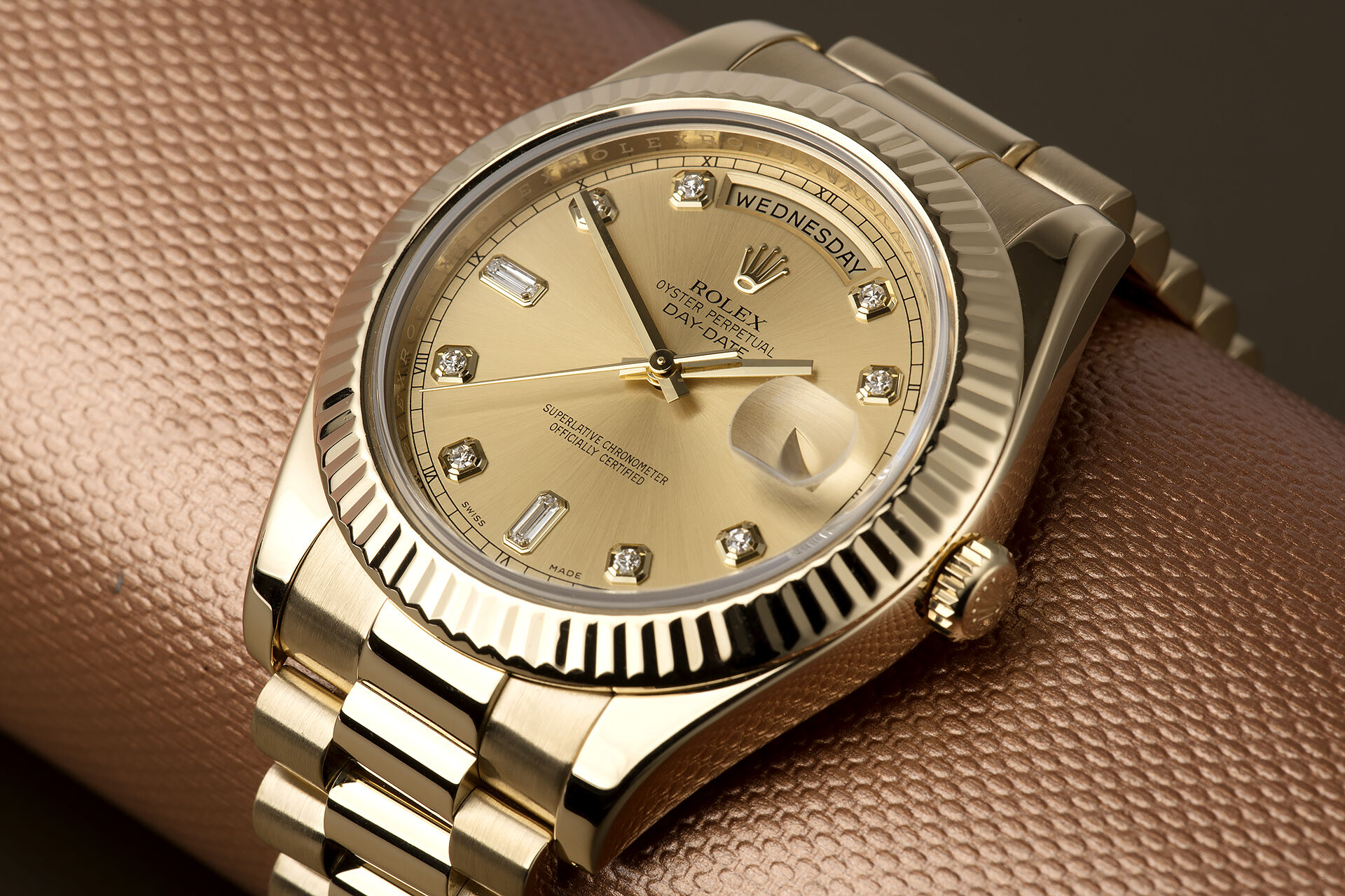ref 218238 | 'Yellow Gold' Box & Papers | Rolex Day-Date II