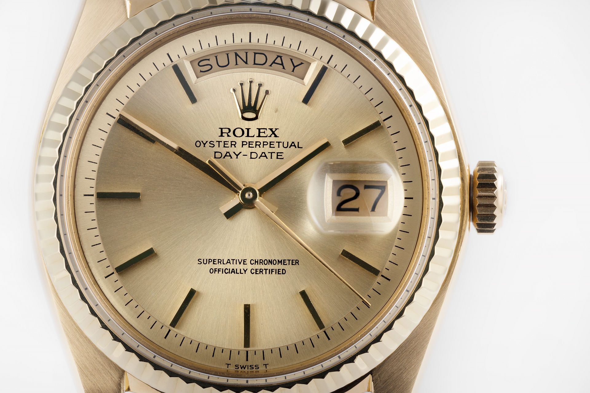 ref 1803 | Yellow Gold 'Pie Pan' | Rolex Day-Date
