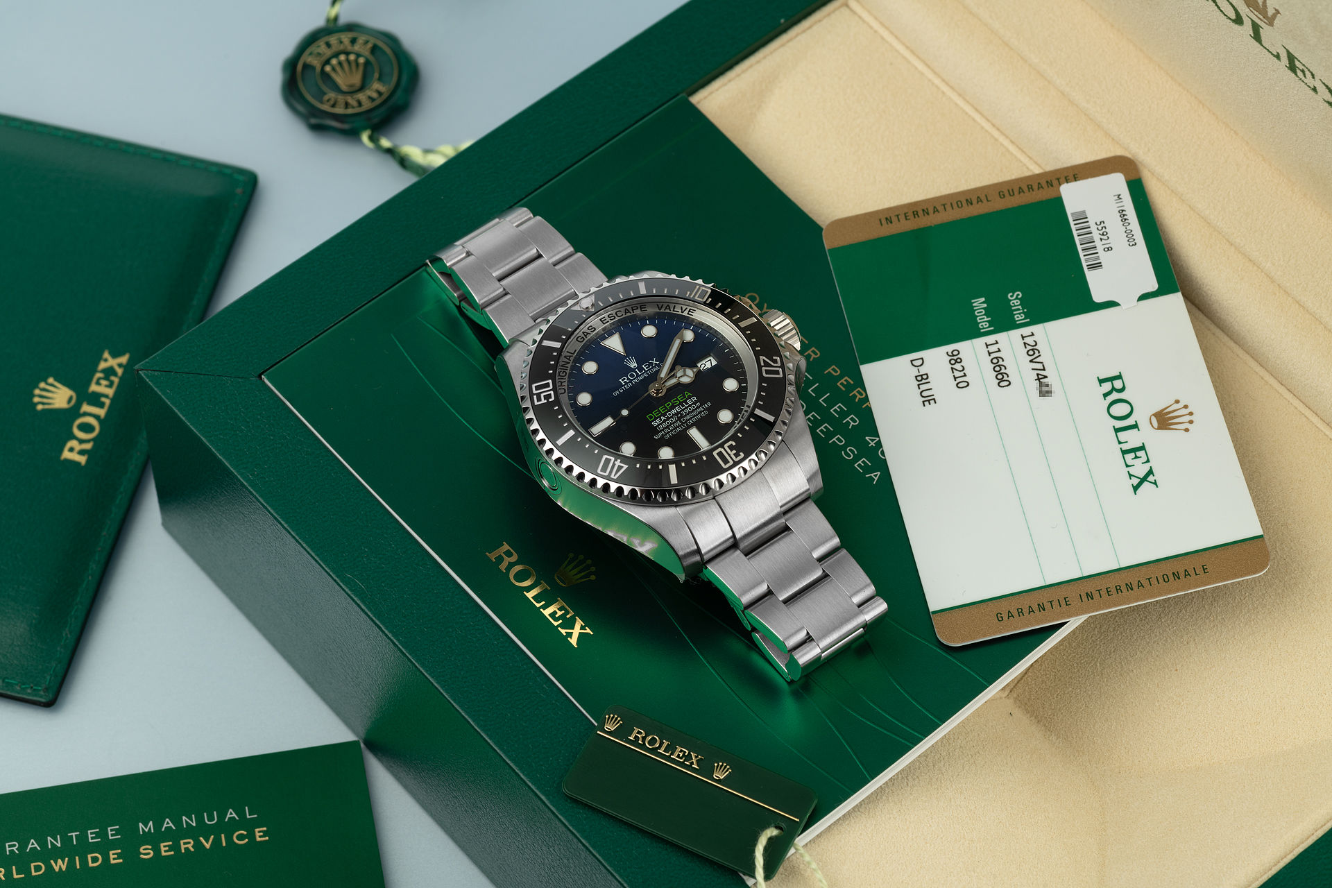 ref 116660 | Rolex Warranty to 2020 | Rolex Deepsea D-Blue