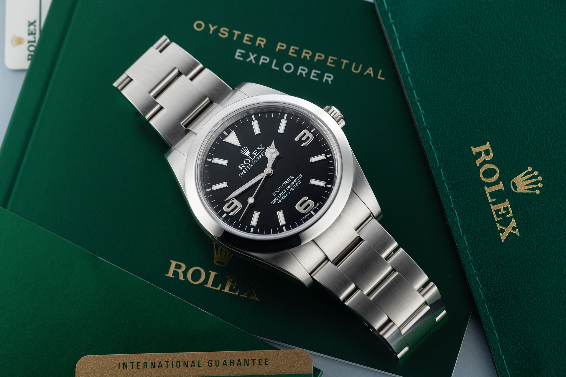 "Complete Set ""Rolex Warranty to 2021"" 