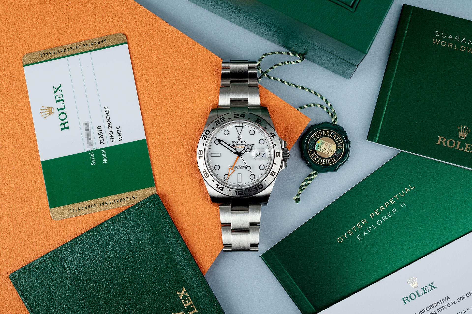 ref 216570 | Complete Set '5 Year Warranty' | Rolex Explorer II