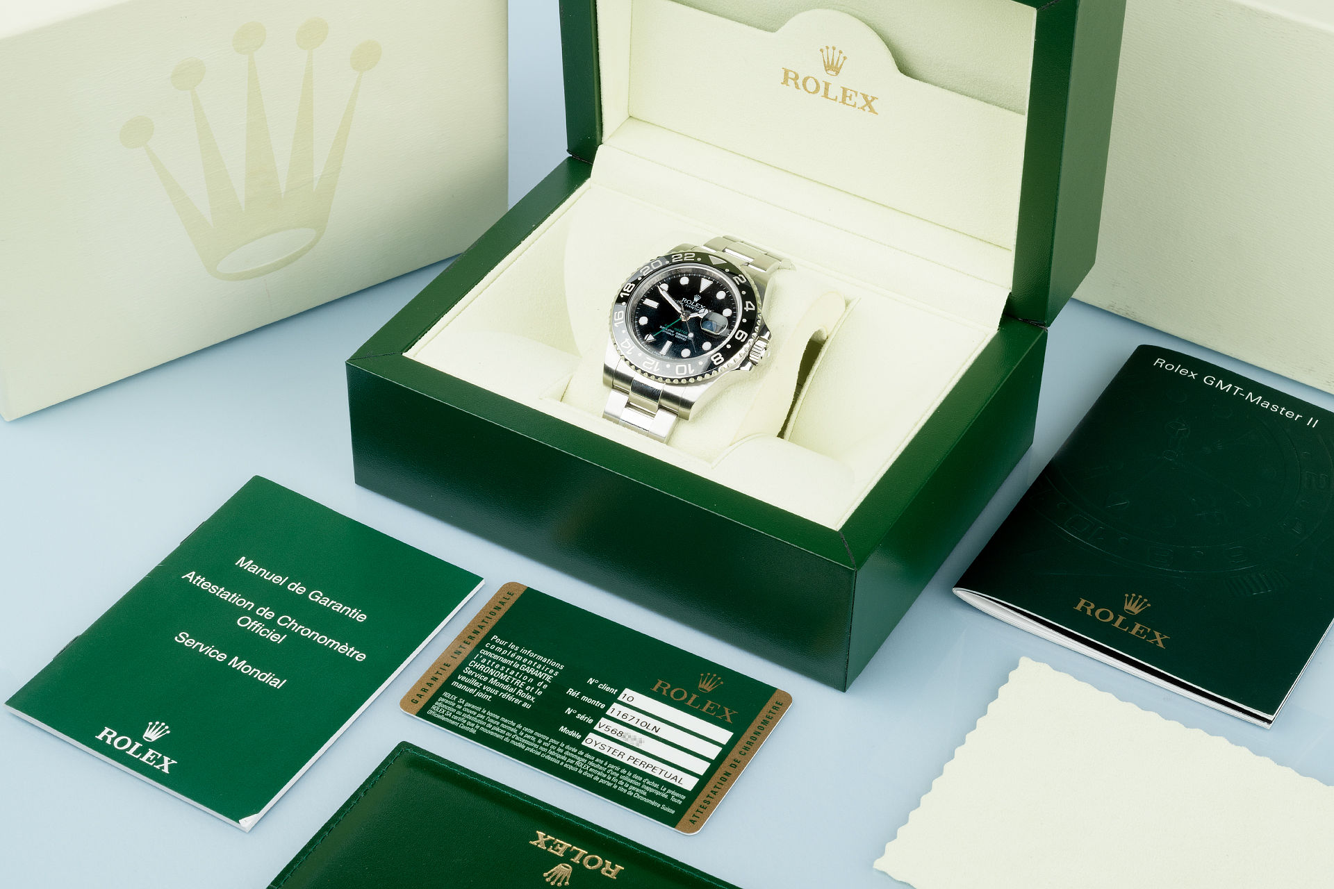 "Ceramic Bezel ""Box & Papers"" 