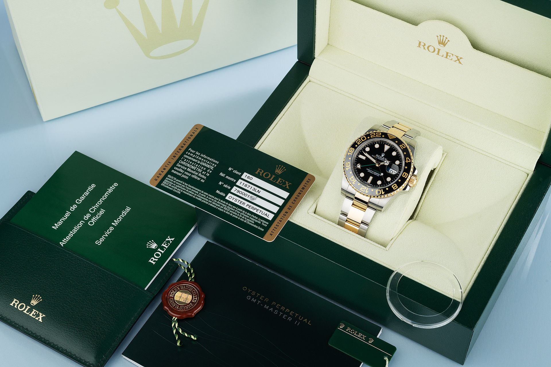 ref 116713LN | 'Complete Set' Triple Time-Zone | Rolex GMT-Master II