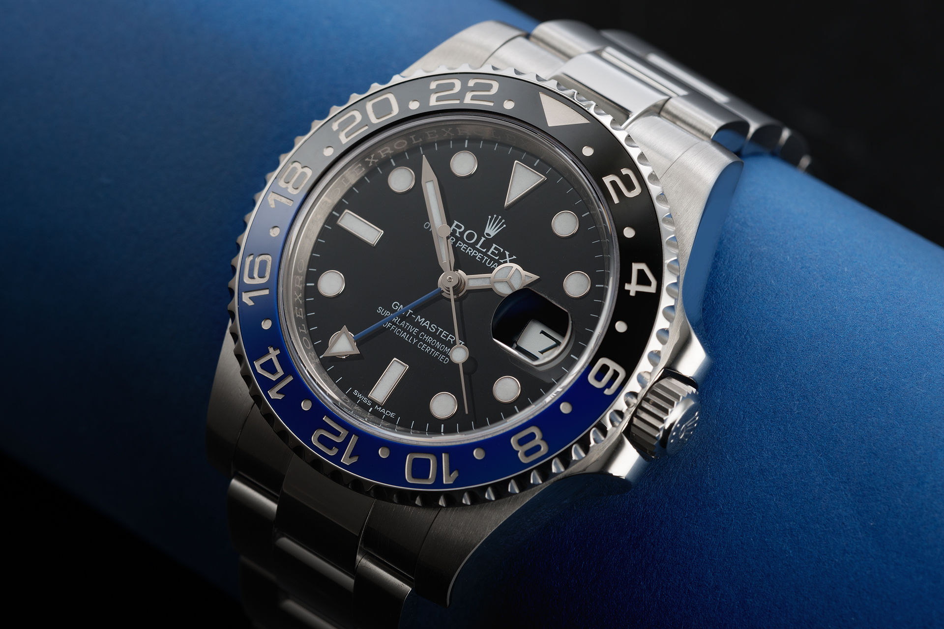 how to set time on rolex gmt master ii