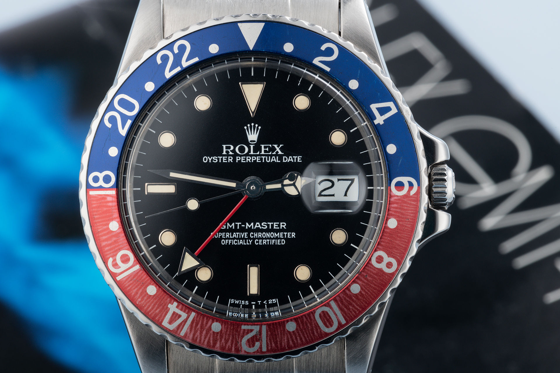 ref 16750 | 'Pink Lady' Box & Papers | Rolex GMT-Master