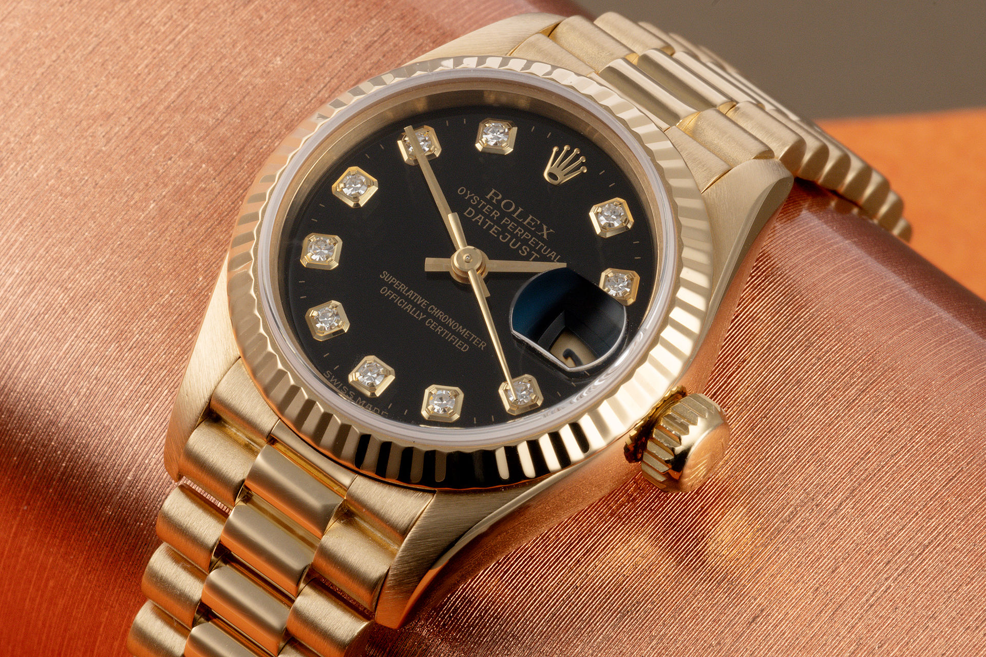 ref 69178 | Box & Papers 'President' | Rolex Lady-Datejust