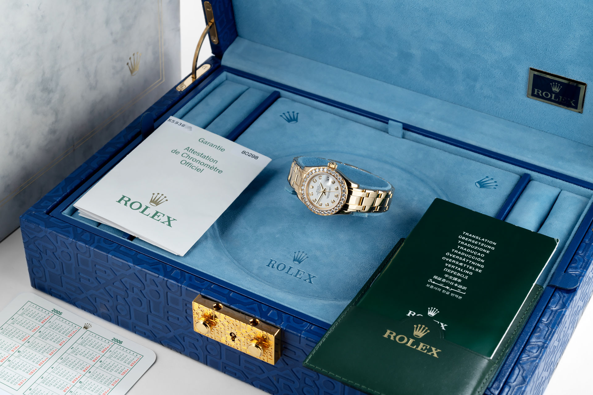 ref 80298 | Full Set 'Diamond Dial' | Rolex Lady Pearlmaster