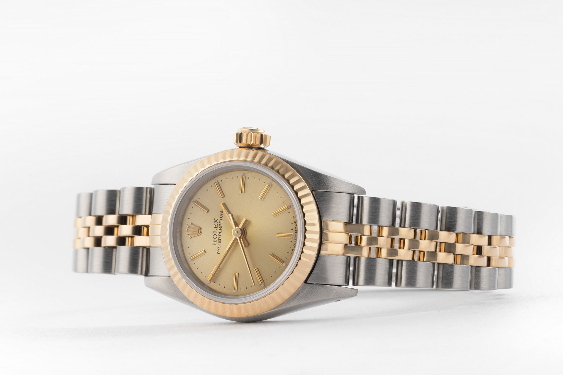 ref 67193 | Gold & Steel 'Box & Papers' | Rolex Oyster Perpetual