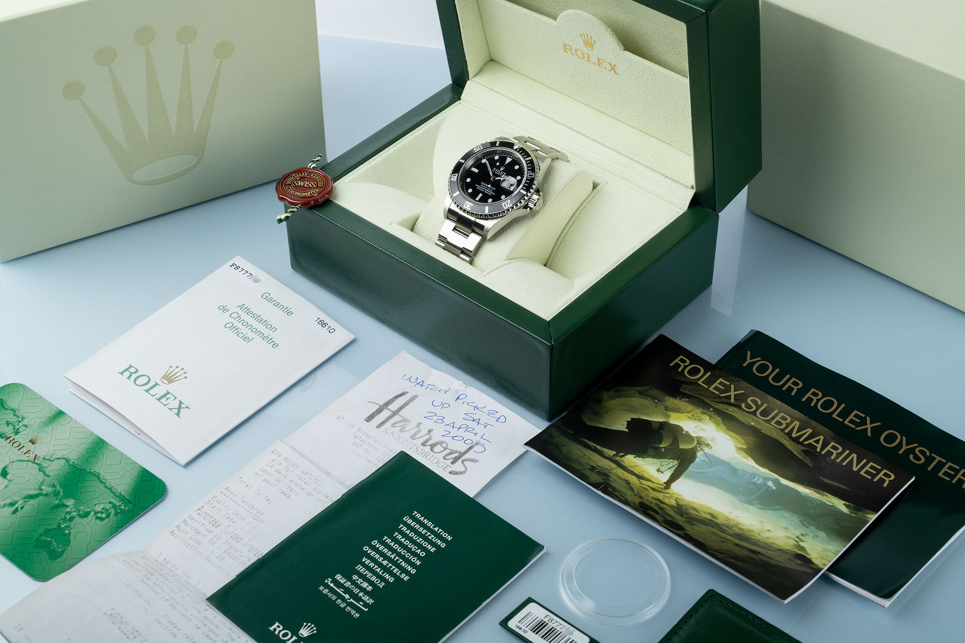 ref 16610 | 'Harrods Box & Papers' | Rolex Submariner Date