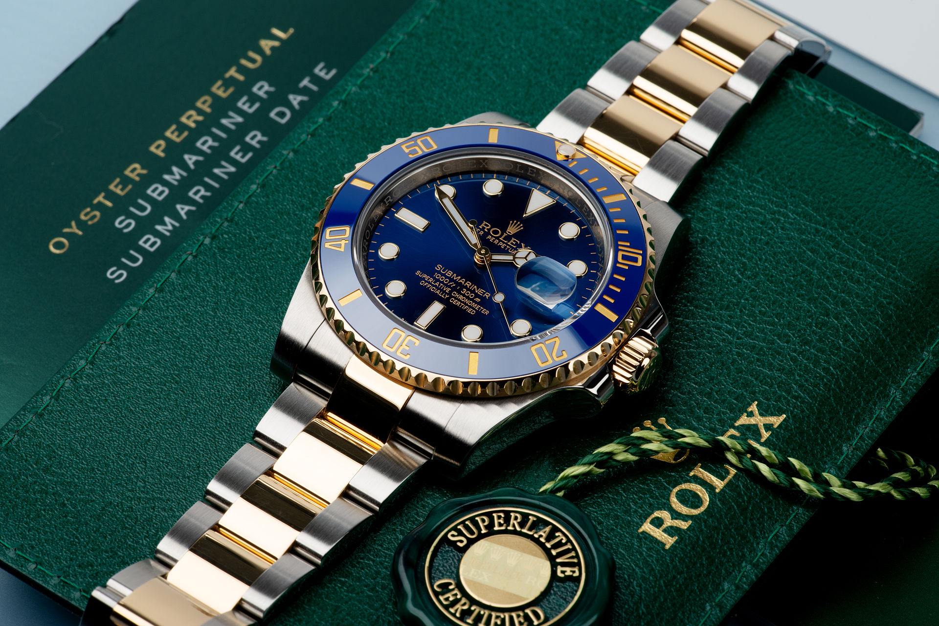 ref 116613LB | Gold & Steel 'Full Set' | Rolex Submariner Date
