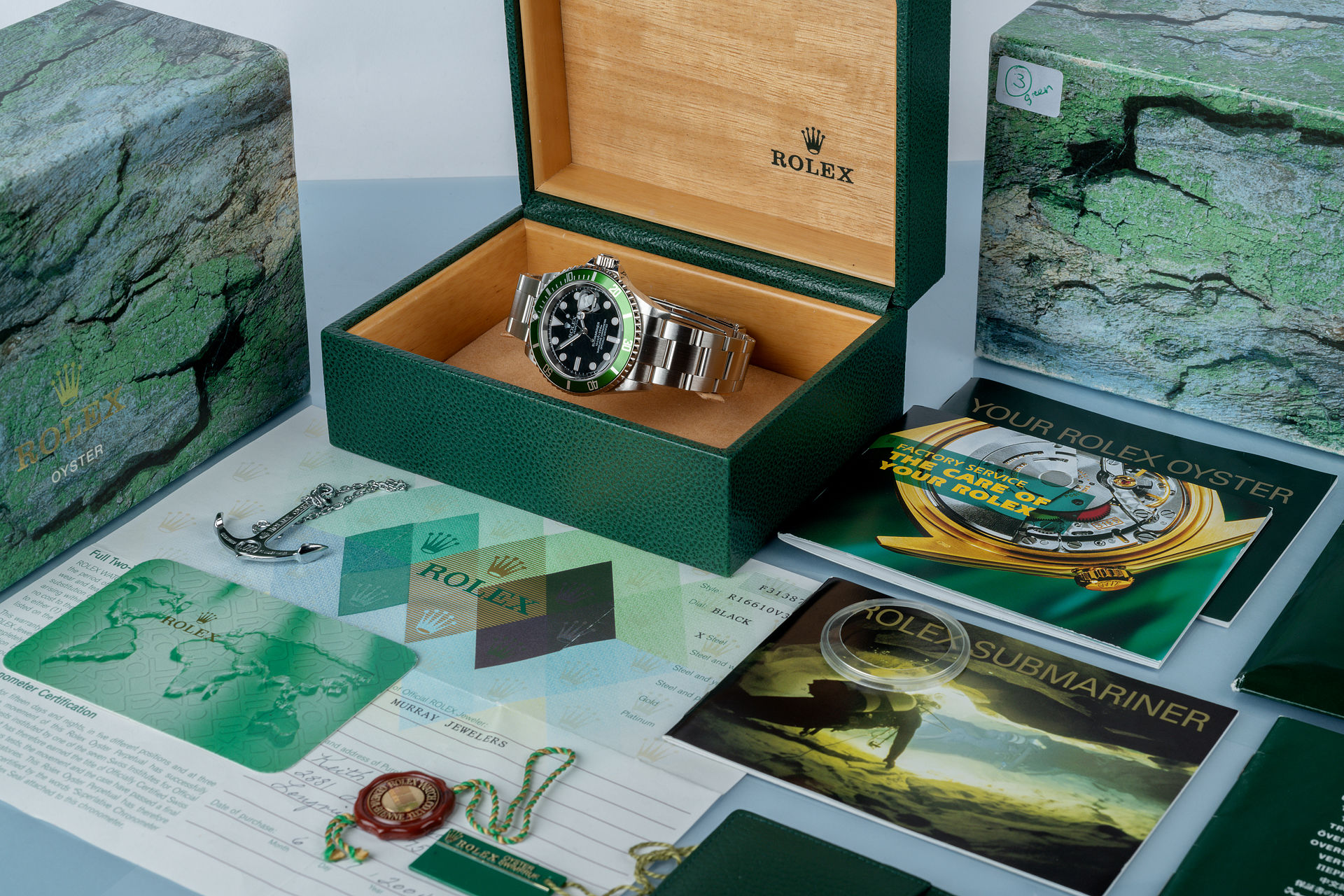 ref 16610LV | Rare Early 'F-Series' Full Set | Rolex Submariner Date