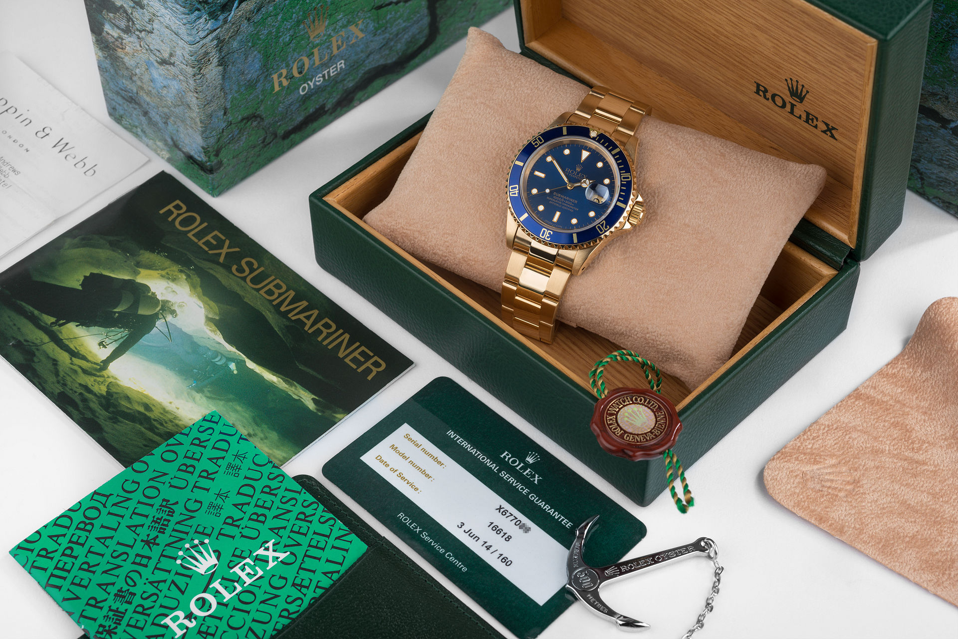 ref 16618 | Yellow Gold 'Beautiful Example' | Rolex Submariner Date