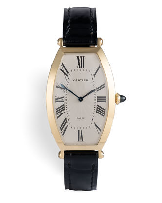 ref 480-91 | 18ct Gold - Signed 'Paris' | Cartier Tonneau Cintrée