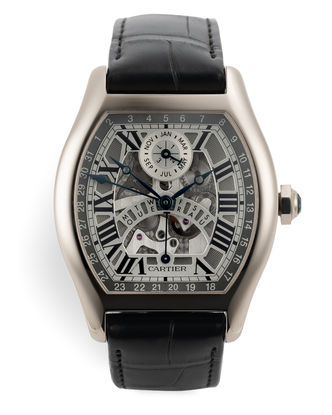 ref W1580048 | White Gold 'Skeleton'  | Cartier Tortue Perpetual