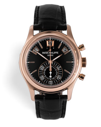 ref 5960R-012 | Rare Black Dial '1 Year Only' | Patek Philippe Annual Calendar Chronograph